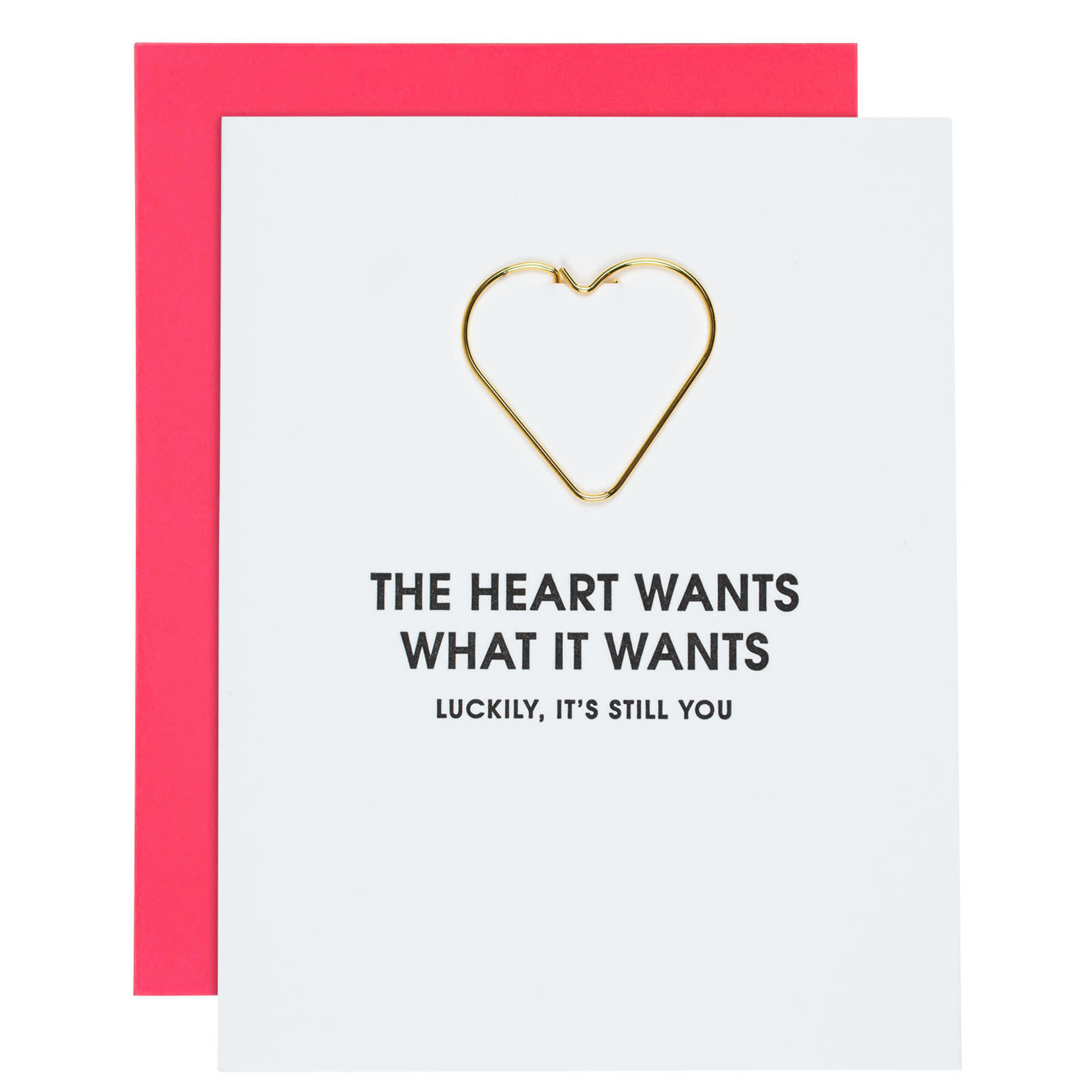 Chez Gagne Chez Gagne Anniversary Heart Wants What It Wants - Funny Anniversary Heart