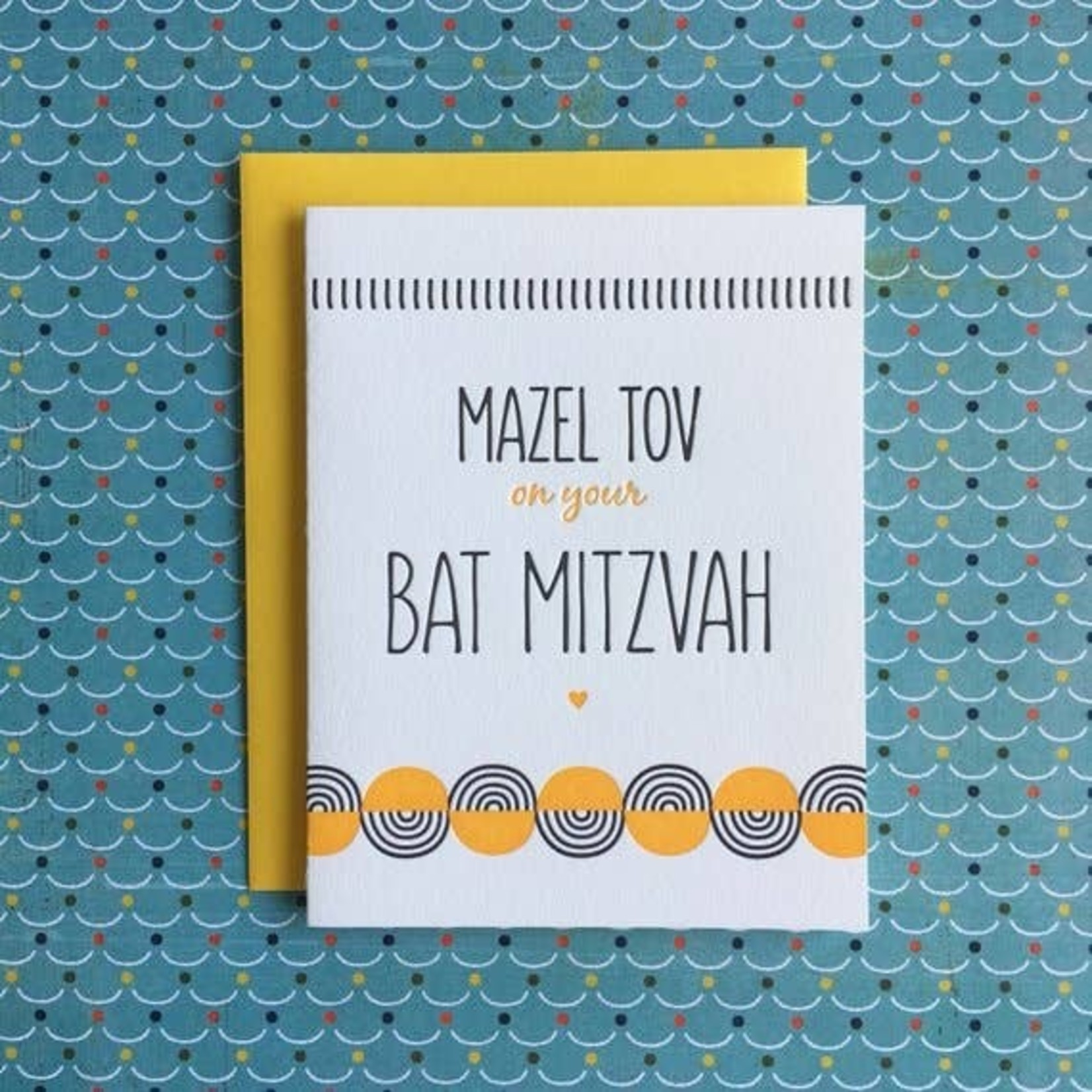 Lucky Bee Press Lucky Bee Yellow Bar Mitzvah Swirl