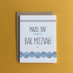 Lucky Bee Press Lucky Bee Blue Bar Mitzvah Swirl