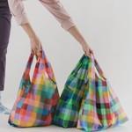 Baggu Baggu Reusable Bag Standard Madras Mix Set of Three