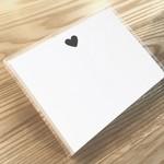 Huckleberry Huckleberry Stationery Set of 12 Black Heart
