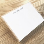 Huckleberry Huckleberry Stationery Set of 12 Thank You San Serif