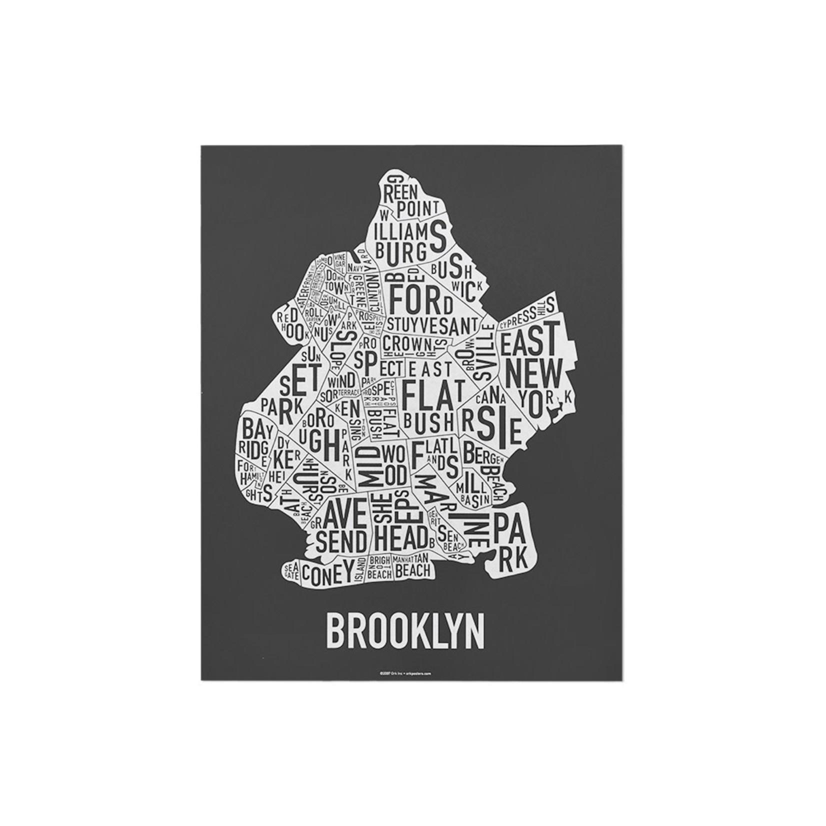 """Ork Poster Brooklyn Black & White 11"""" x 14"""""""