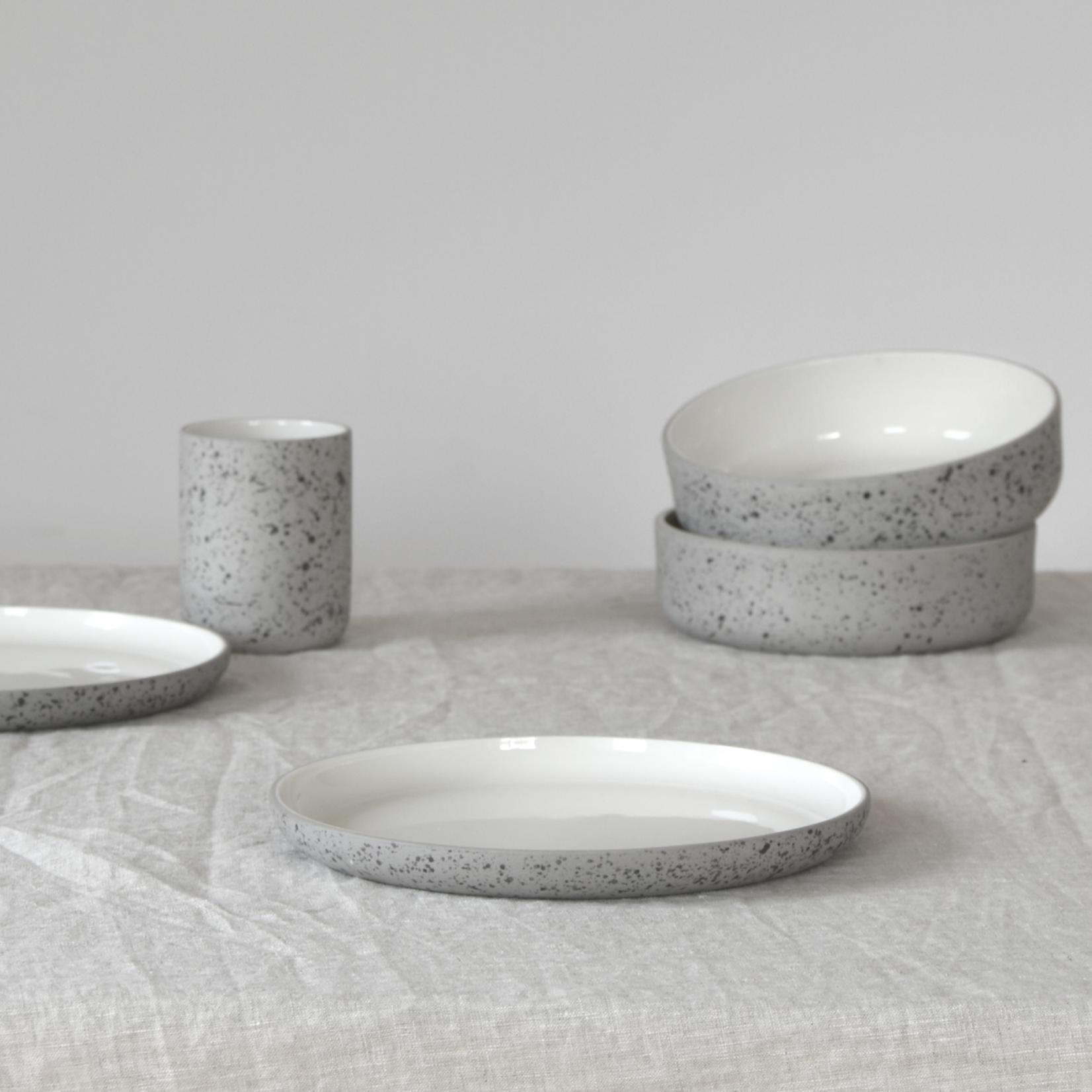 "Archive Studio Archive Studio Handmade Plate 8"" Speckled"
