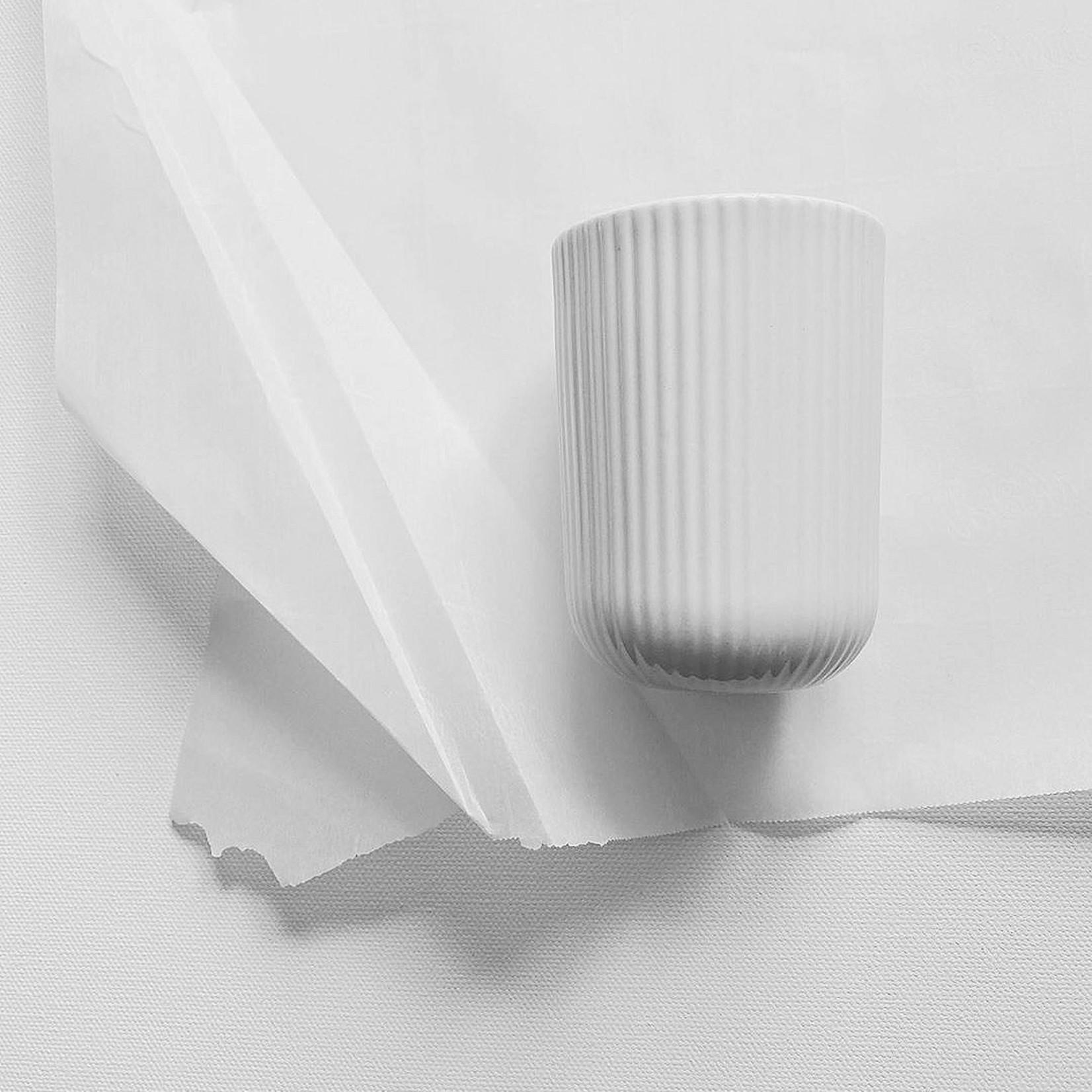 Archive Studio Archive Studio Handmade Coffee Cup Ribbed White