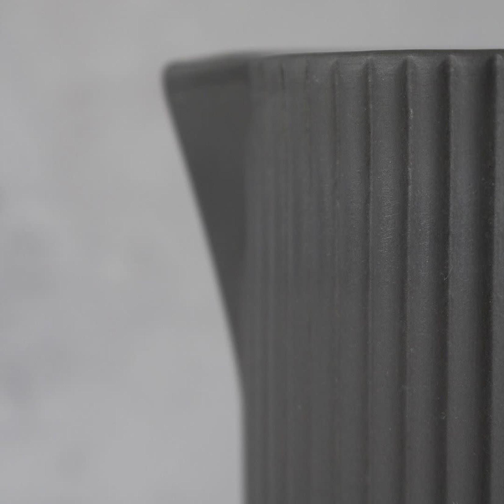 Archive Studio Archive Studio Handmade Water Jug Ribbed Dark Grey