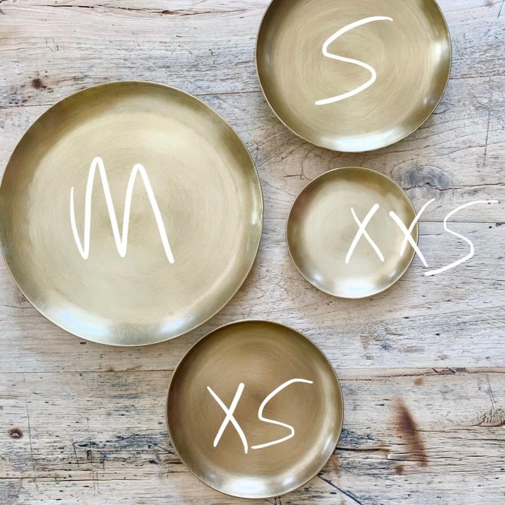 """Fog Linen Fog Linen Brass Plate XSmall 3.25"""""""