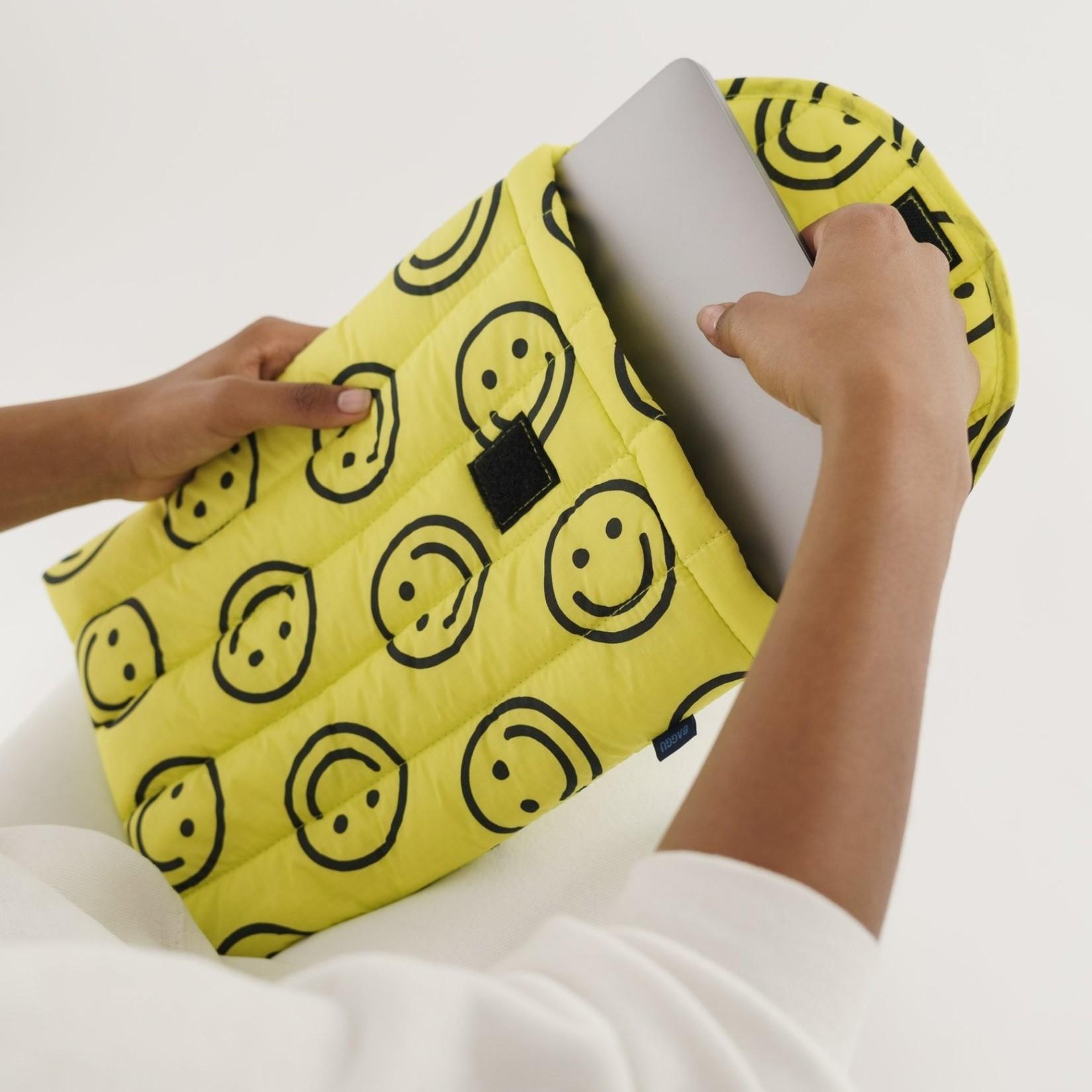 "Baggu Baggu Puffy Laptop Sleeve  Happy Yellow 13"""