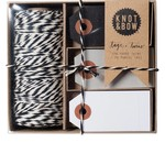 Knot & Bow Knot & Bow Tag & Twine Box Black Natural Black