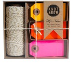 Knot & Bow Knot & Bow Tag & Twine Box Gold Warm Neon