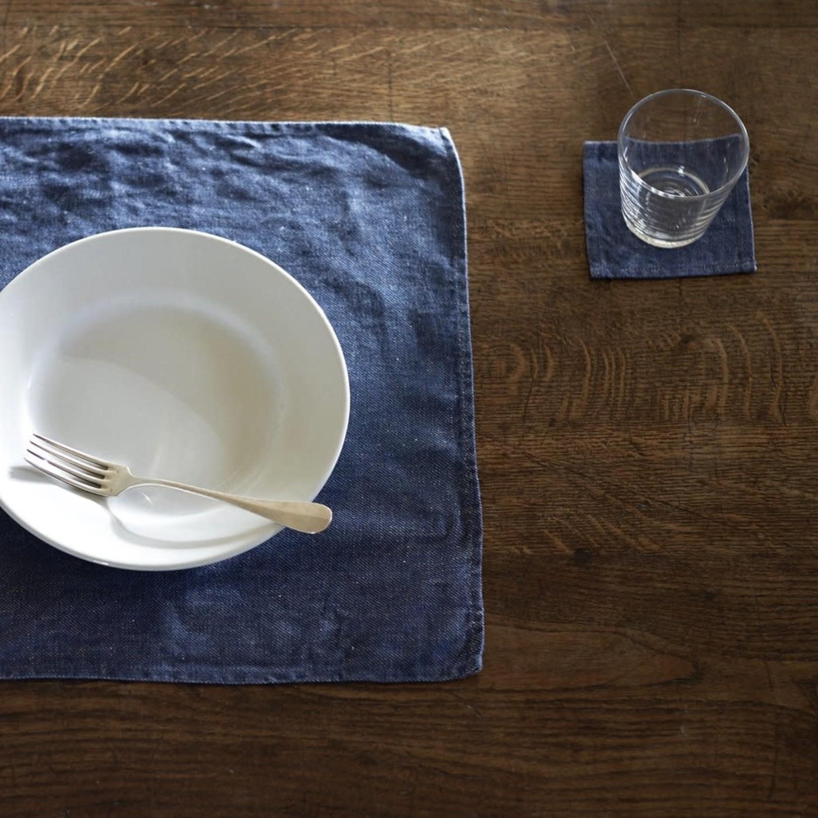Fog Linen Fog Linen Linen Place Mat Denim Blue