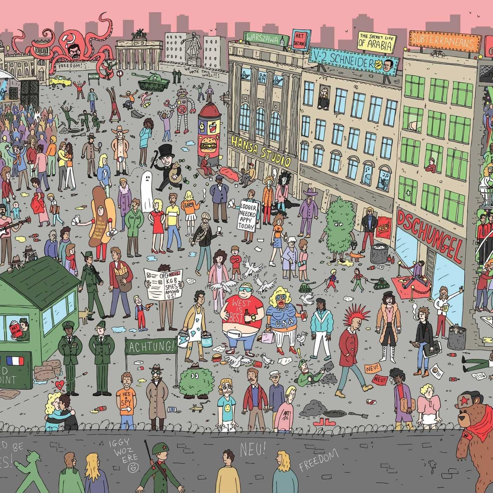 Rizzoli 500 Piece Where's Bowie? In Berlin Jigsaw Puzzle