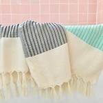 Slate + Salt Slate + Salt Plush Wavy Turkish Towel Black