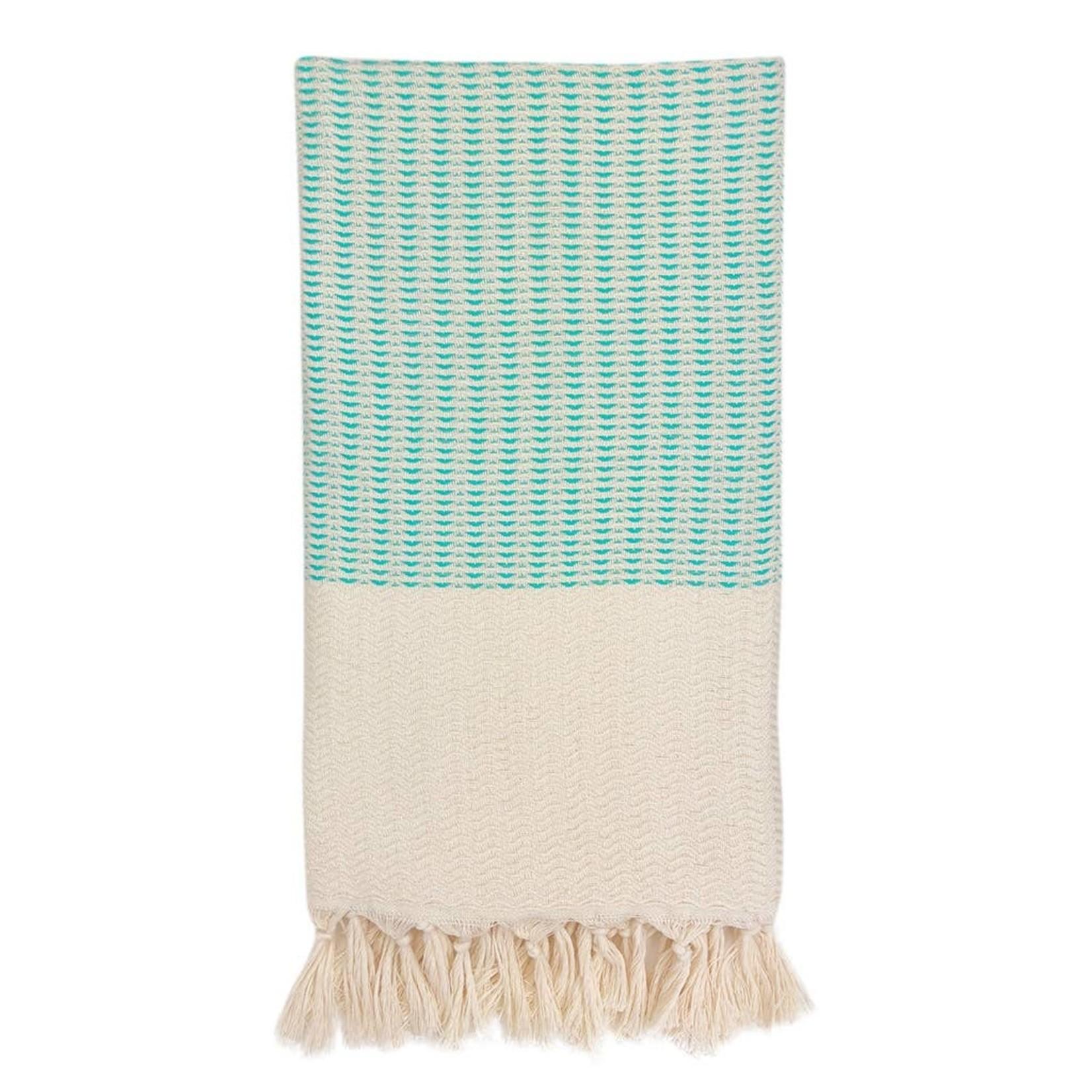 Slate + Salt Slate + Salt Plush Wavy Turkish Towel Mint