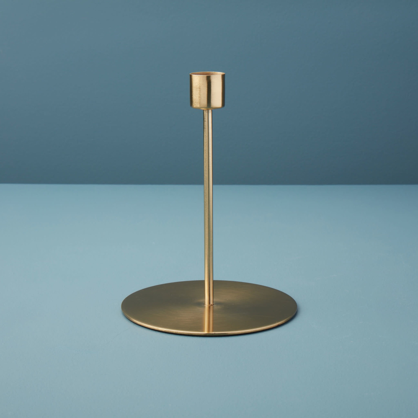 Be Home Be Home Gold Taper Candle Holder Tall