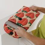 "Baggu Baggu Puffy Laptop Sleeve  Strawberry 16"""