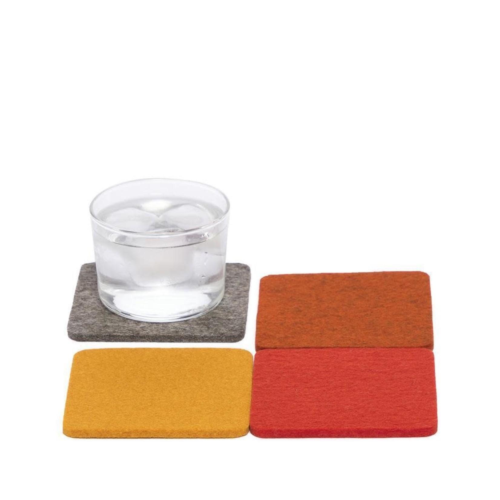 Graf & Lantz Graf & Lantz Coaster square 4 pack Flame