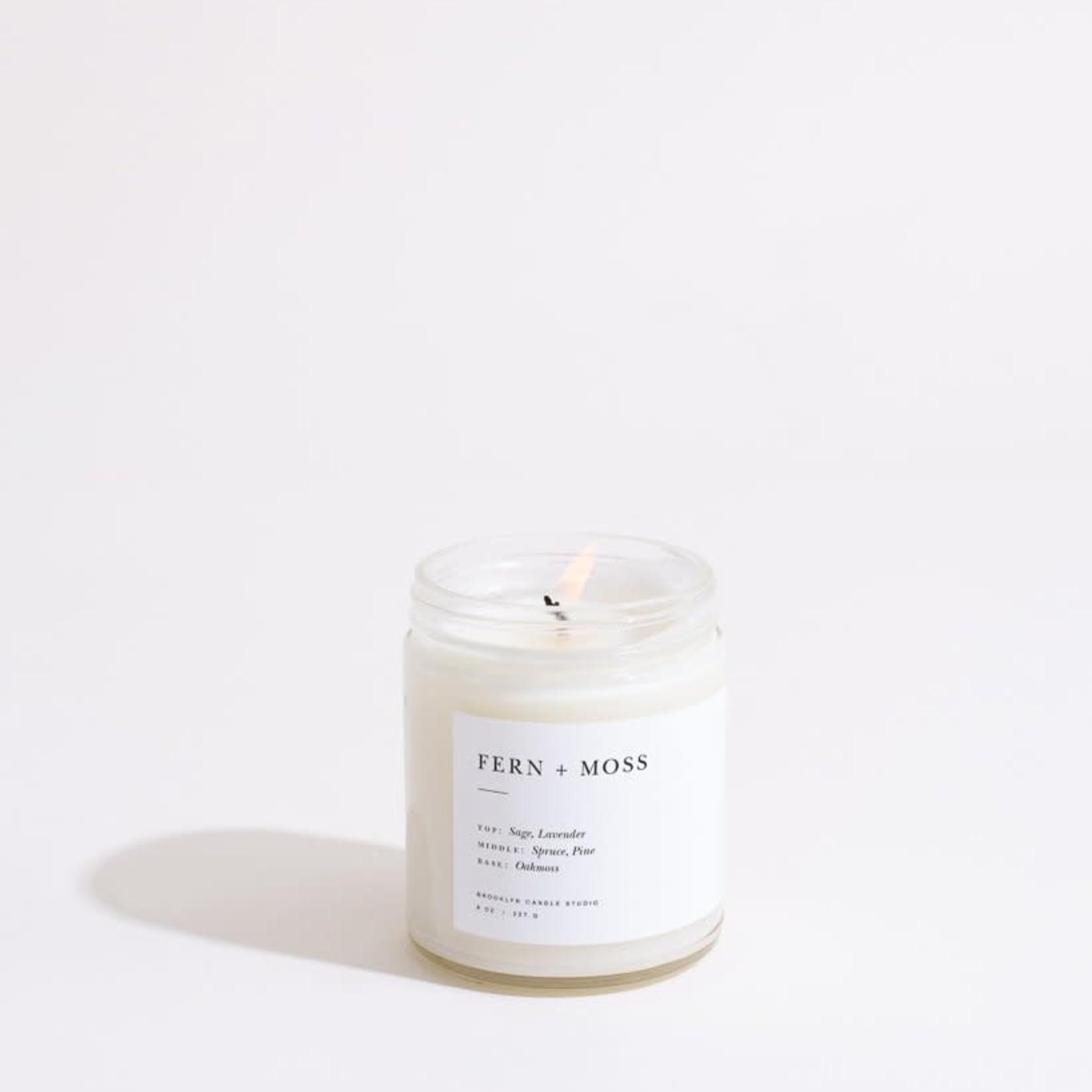 Brooklyn Candle Studio Brooklyn Candle Studio FERN & MOSS Minimalist Jar Candle