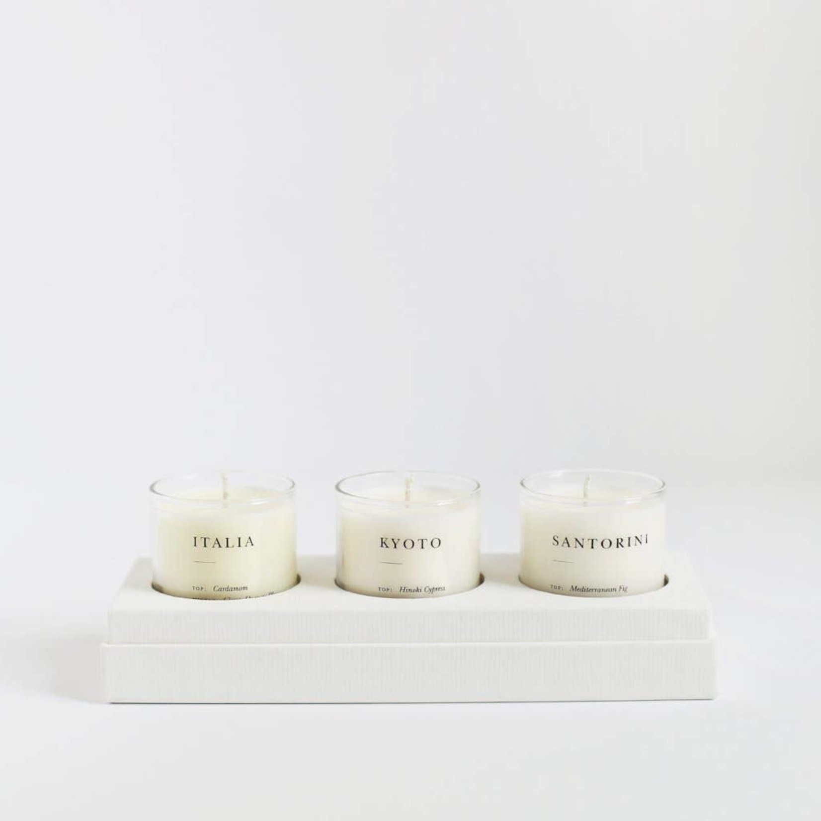 Brooklyn Candle Studio Brooklyn Candle Studio Escapist Gift Set Earthy + Warm (Santorini/Kyoto/Italia)