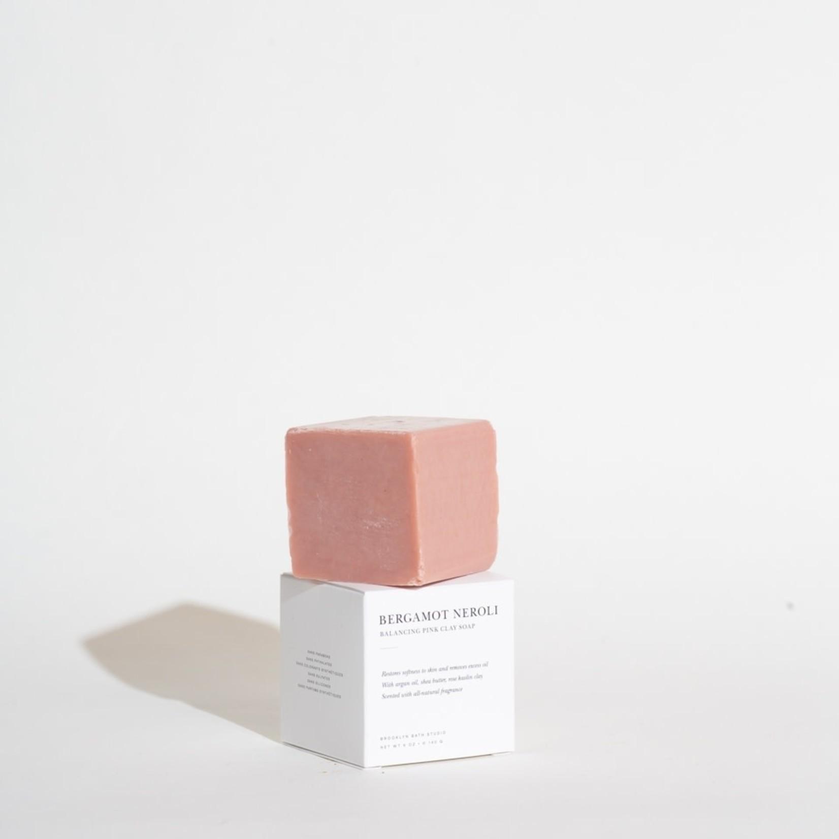 Brooklyn Candle Studio Brooklyn Candle Studio Bergamot Neroli Balancing Pink Clay 5oz Bar Soap