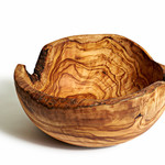 "Natural OliveWood Natural OliveWood Family Salad Bowl 9"""