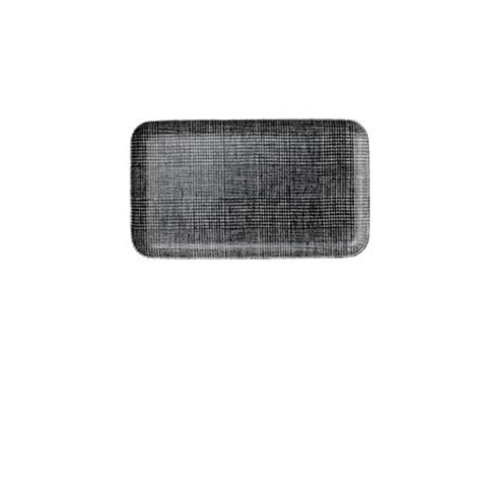 Fog Linen Fog Linen Linen Coated Tray Small Glen Check