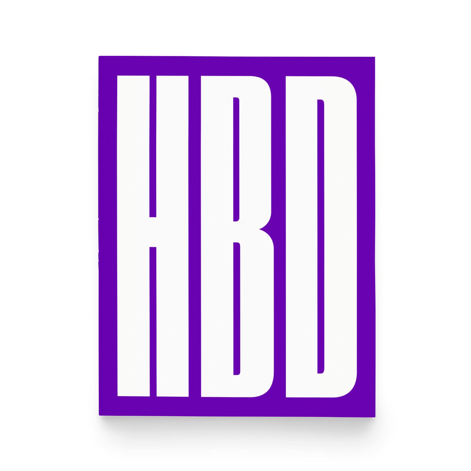 Paper & Stuff Paper & Stuff Tall HBD Happy Birthday Purple