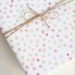 Lana's Shop Gift Wrap Coral Polkadots