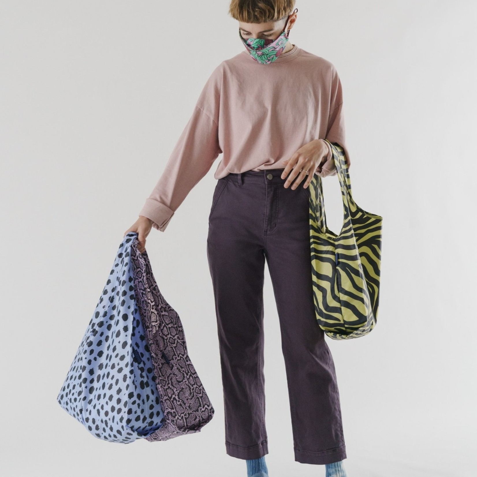 Baggu Baggu Reusable Bag Standard Set of Three - Animal Print
