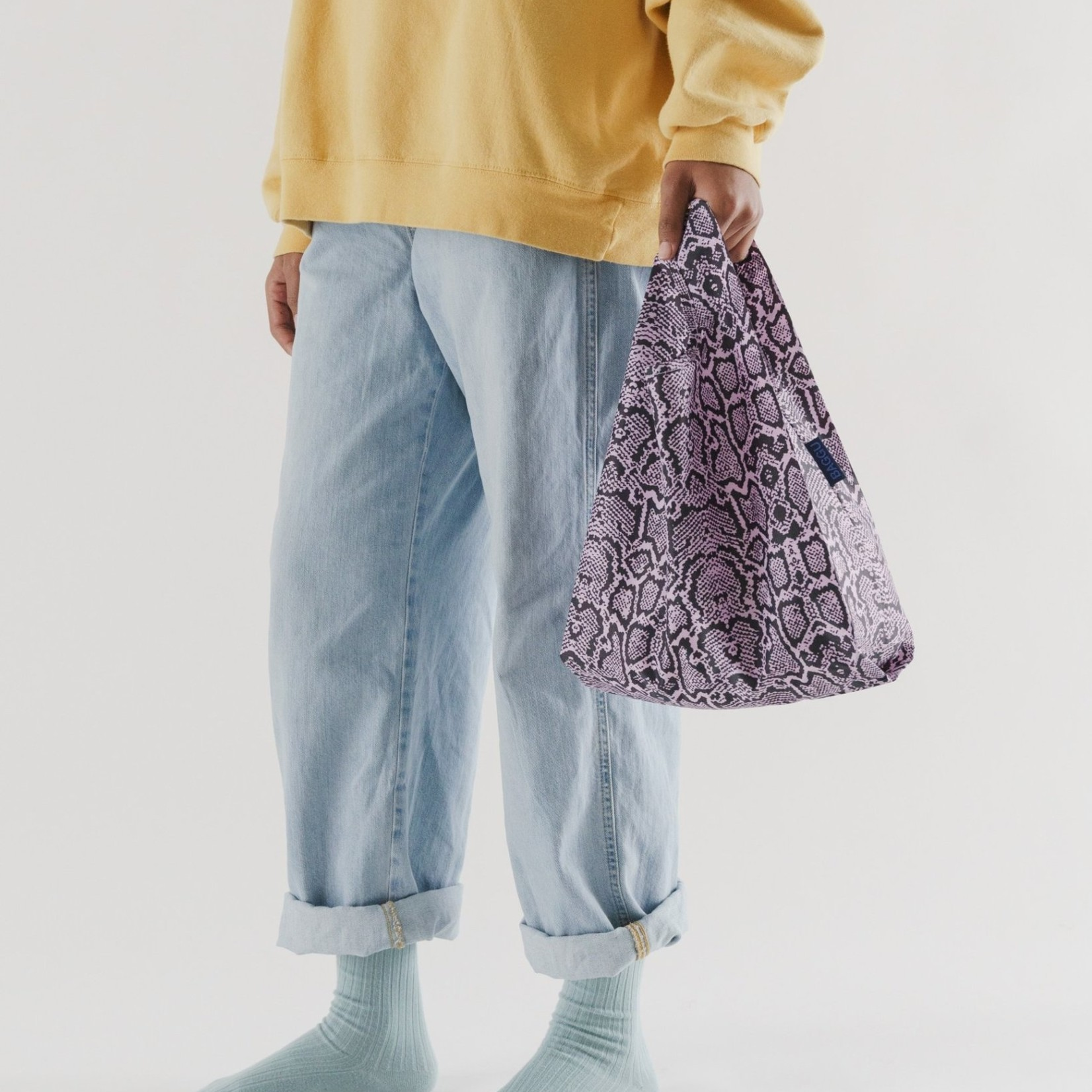 Baggu Baggu Reusable Bag Baby Pink Snakeskin