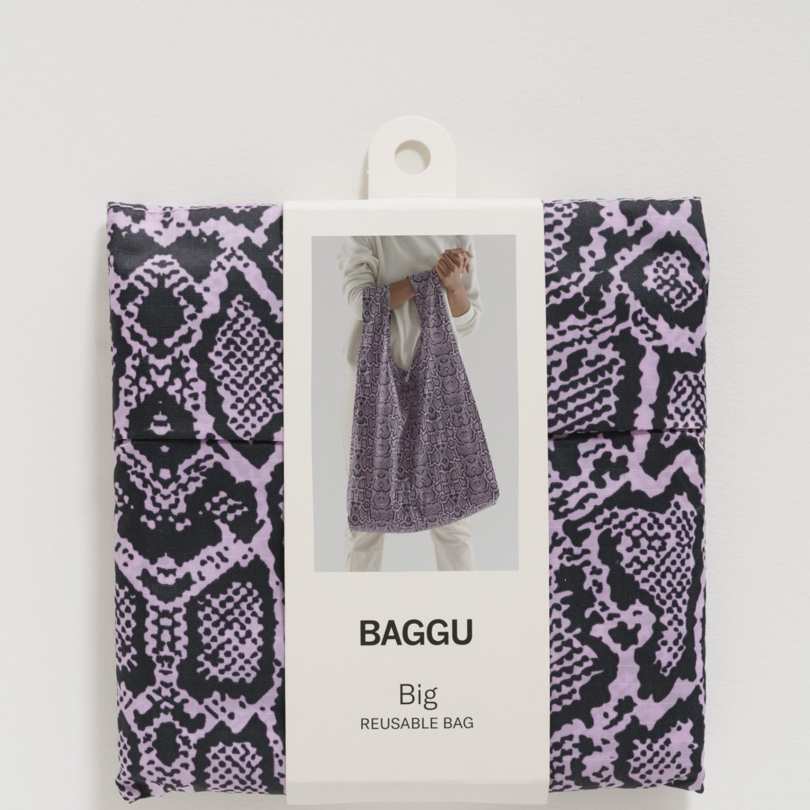 Baggu Baggu Reusable Bag Big Pink Snakeskin