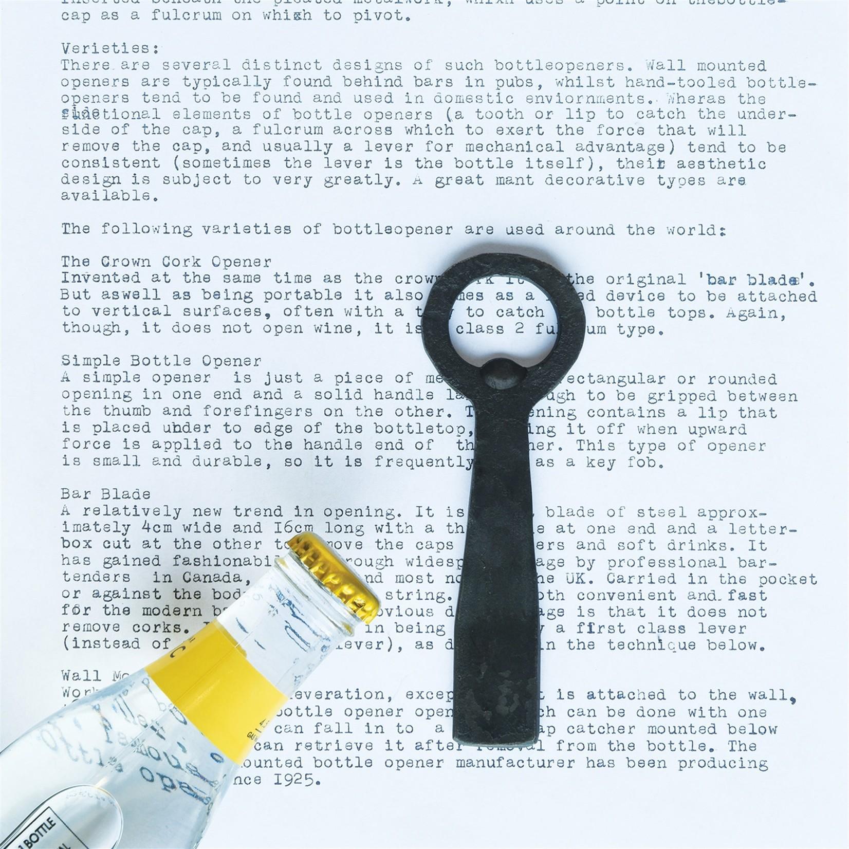 HomArt HomArt Flat Forged Bottle Opener Iron Black