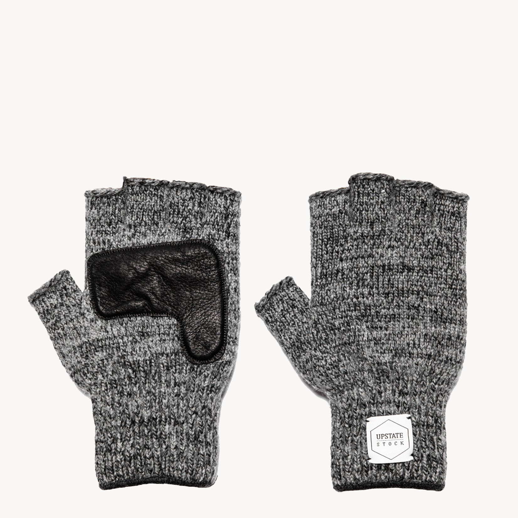 Upstate Stock Upstate Stock Fingerless Charcoal with Black Deerskin