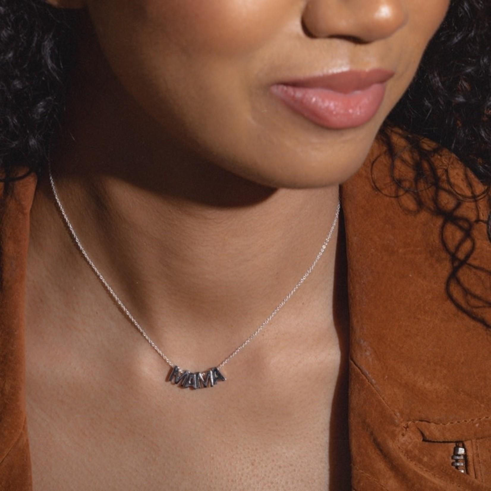 Larissa Loden Jewelry Larissa Loden MAMA Necklace Rhodium Plated
