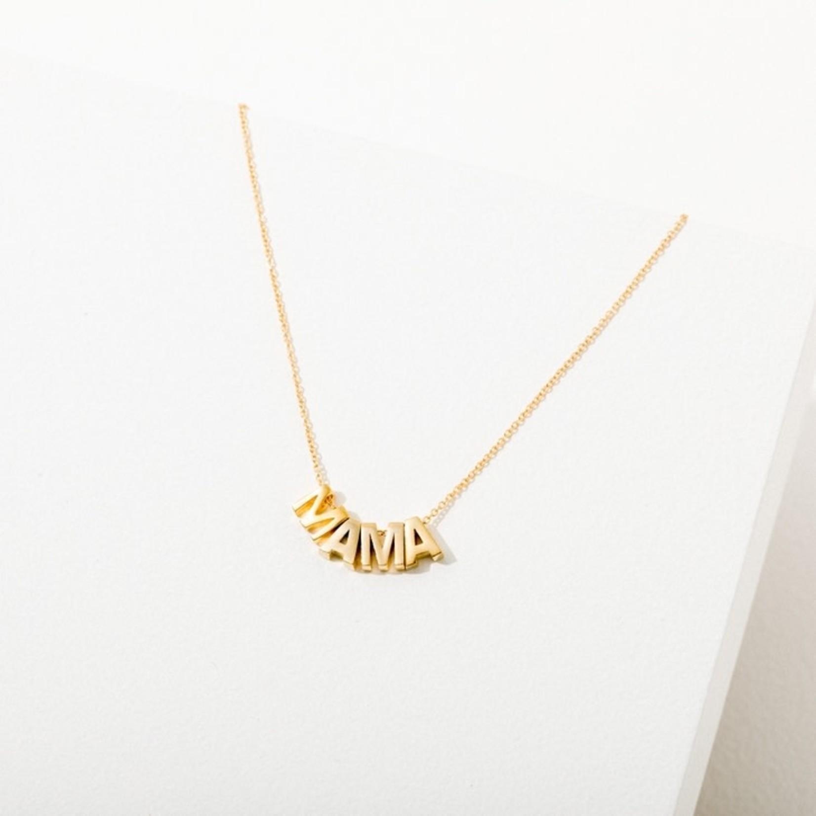 Larissa Loden Jewelry Larissa Loden MAMA Necklace 24K Gold Plate
