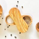 Natural OliveWood Natural OliveWood Salt & Pepper Keeper