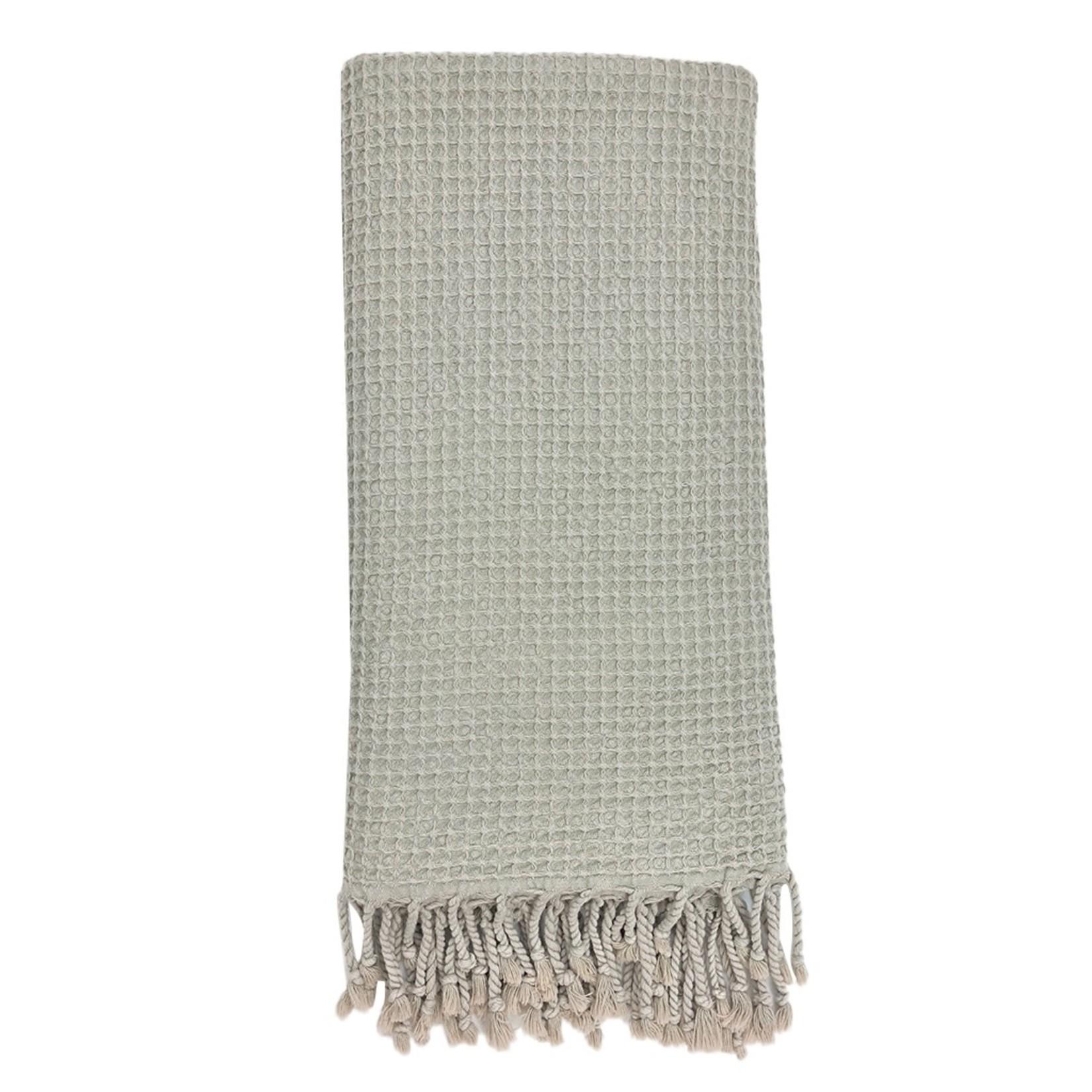 Slate + Salt Slate + Salt Waffle Weave Turkish Towel  Stone