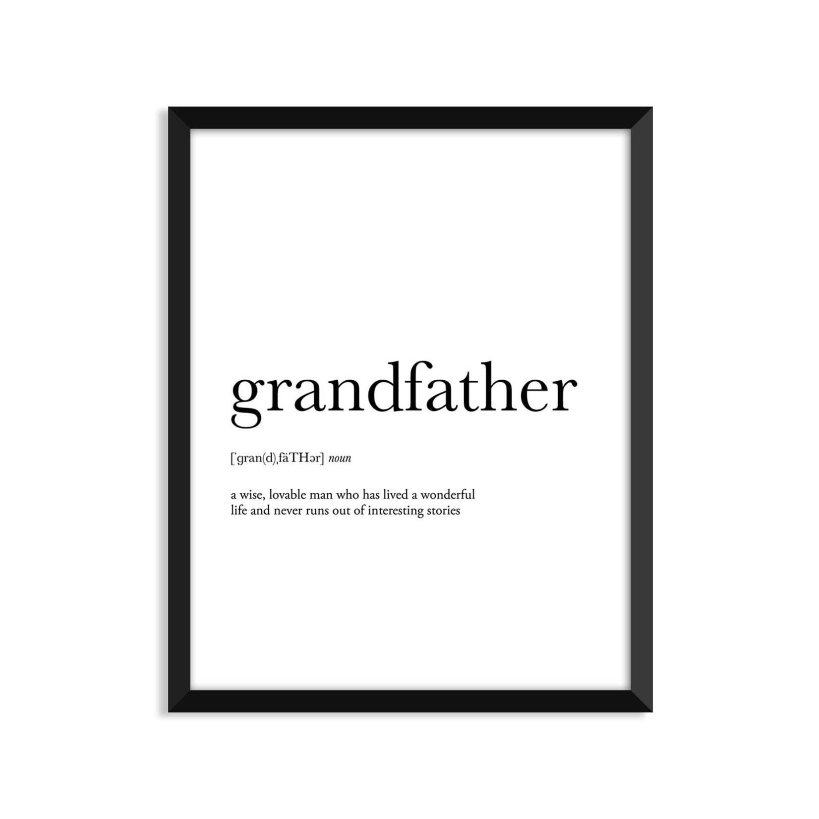 Footnotes Studio Art Print Grandfather