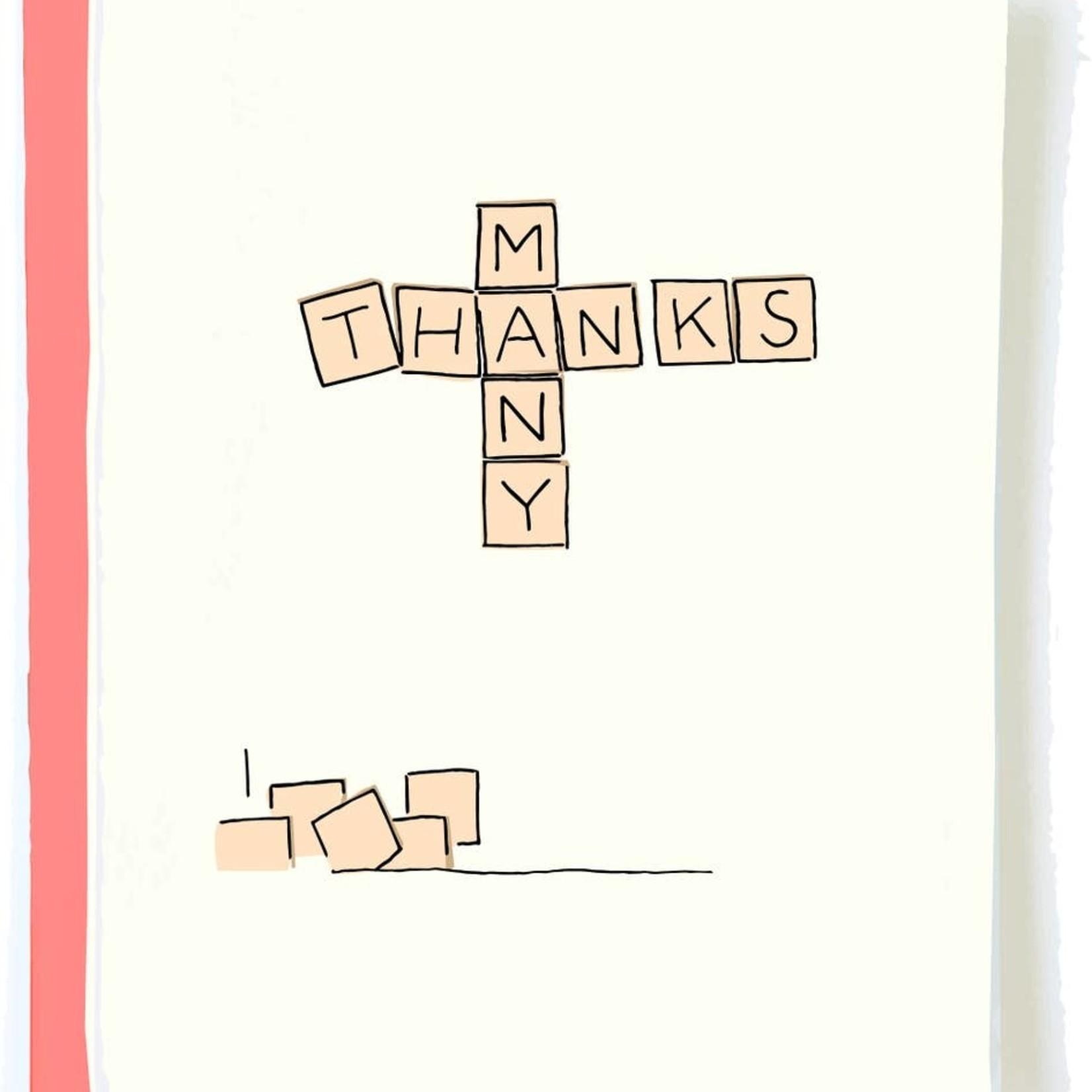 Pop + Paper Pop & Paper Thank You Scrabble Thank You