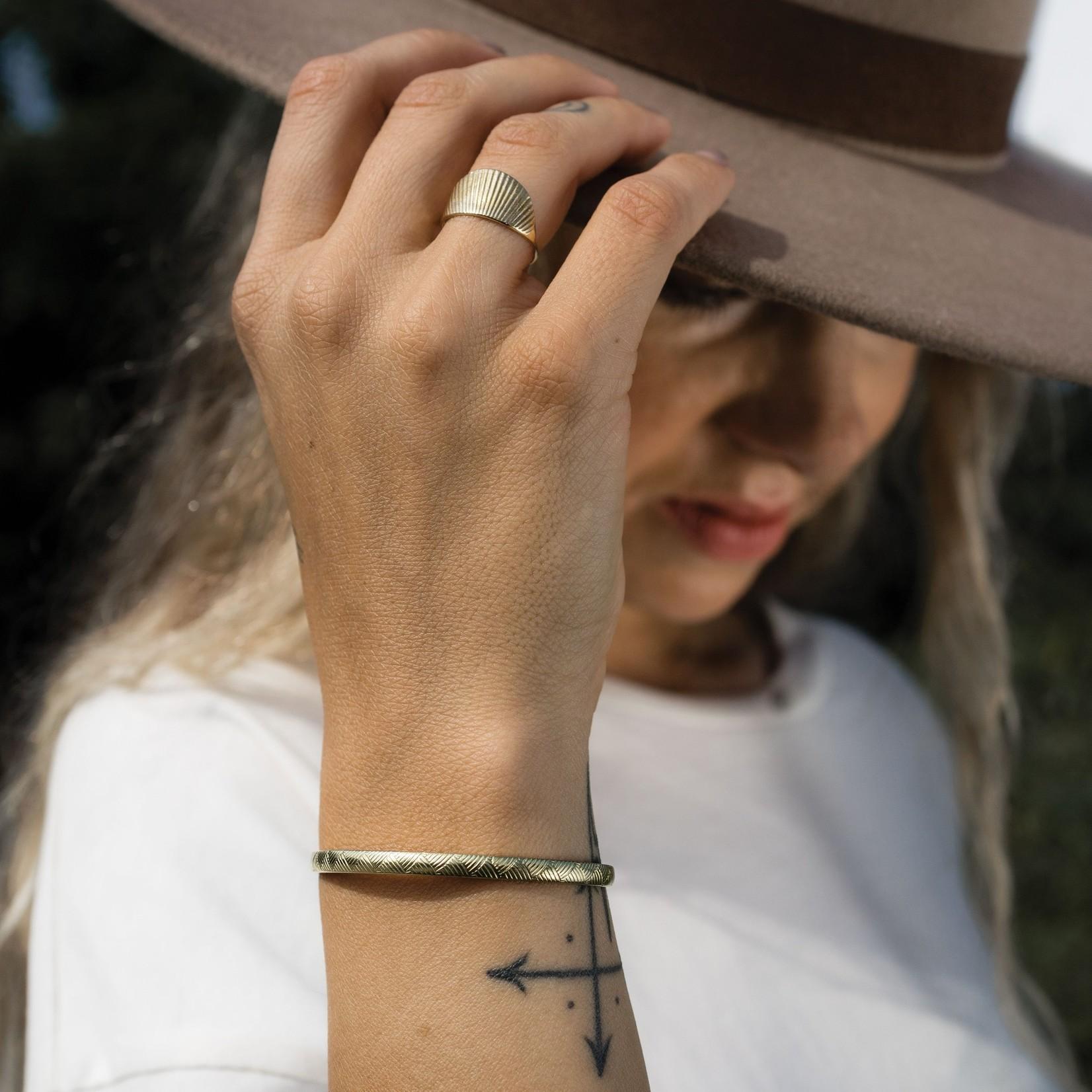 Mana Made Jewelry Mana Made Vintage Lines Cuff Bracelet Brass