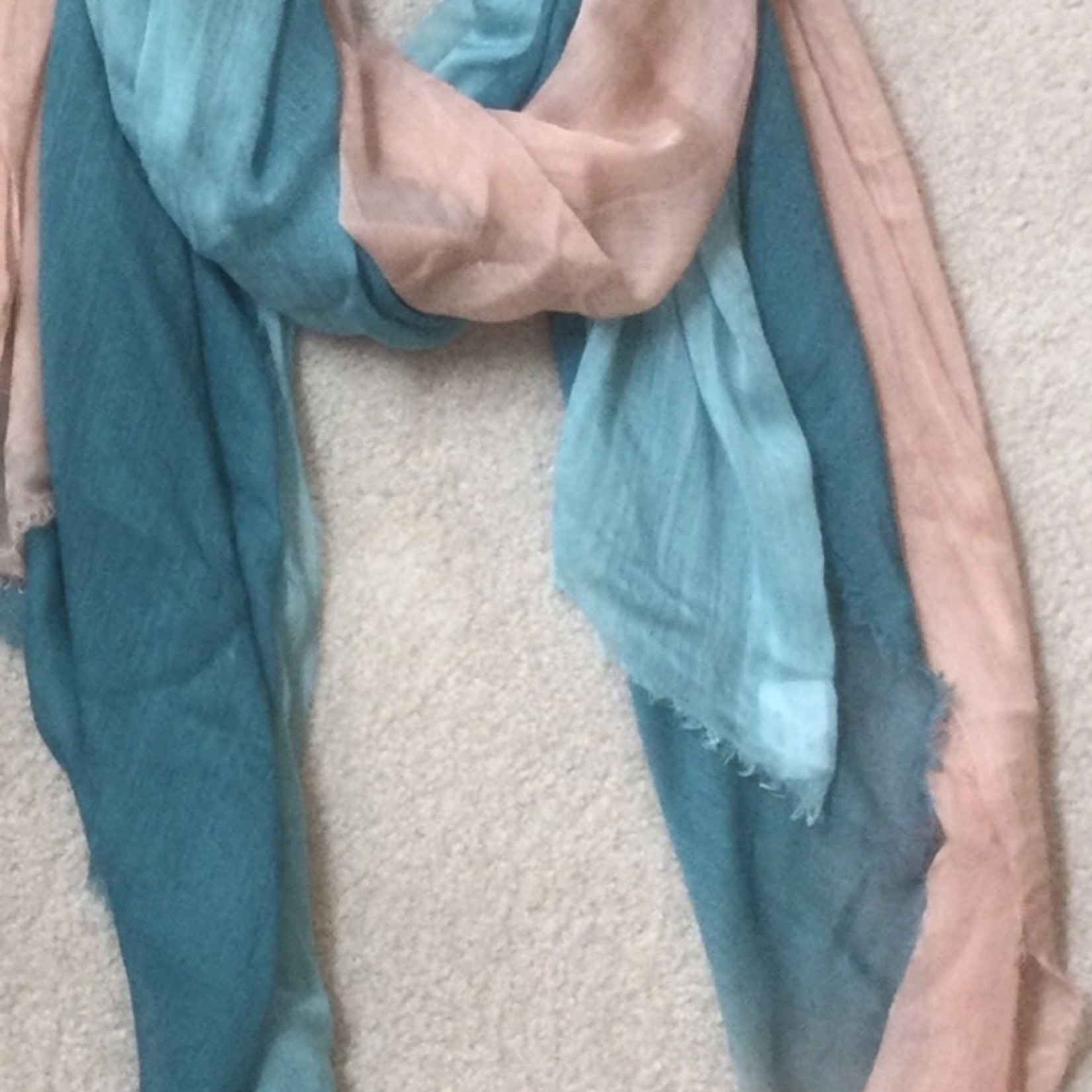 Blue Pacific Scarf Dream Ombre Aqua Peach