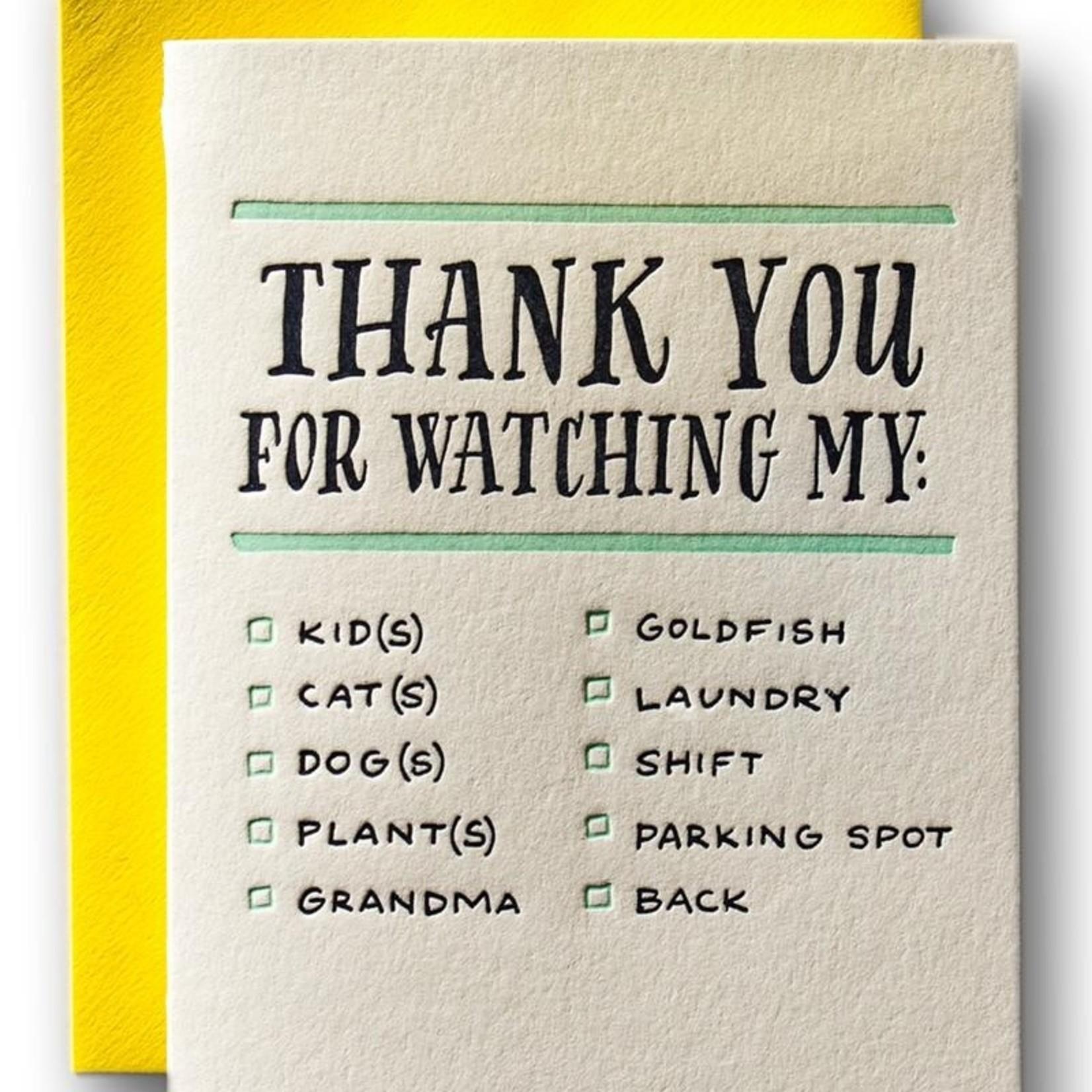 Ladyfingers Letterpress Ladyfingers Thanks For Watching