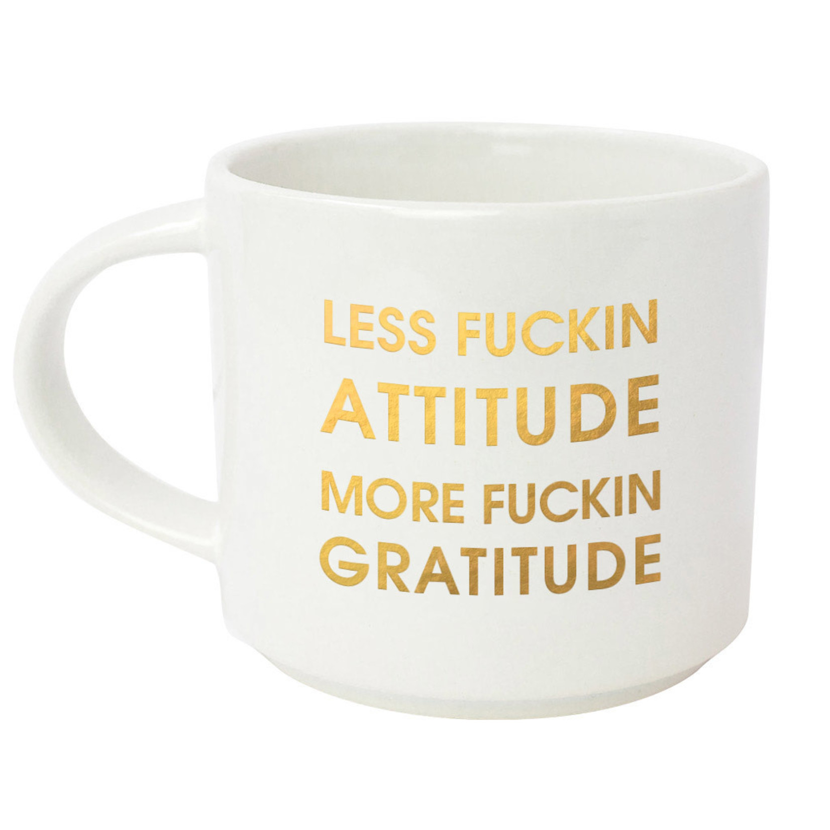 Chez Gagne Chez Gagne Less Fuckin Attitude More Fuckin Gratitude Jumbo Mug