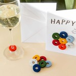 Graf & Lantz Graf & Lantz Wine-Ote's Happy Felt Wine Marker Note Card