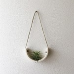 Mudpuppy Mudpuppy Hanging Planter White Earthenware Small