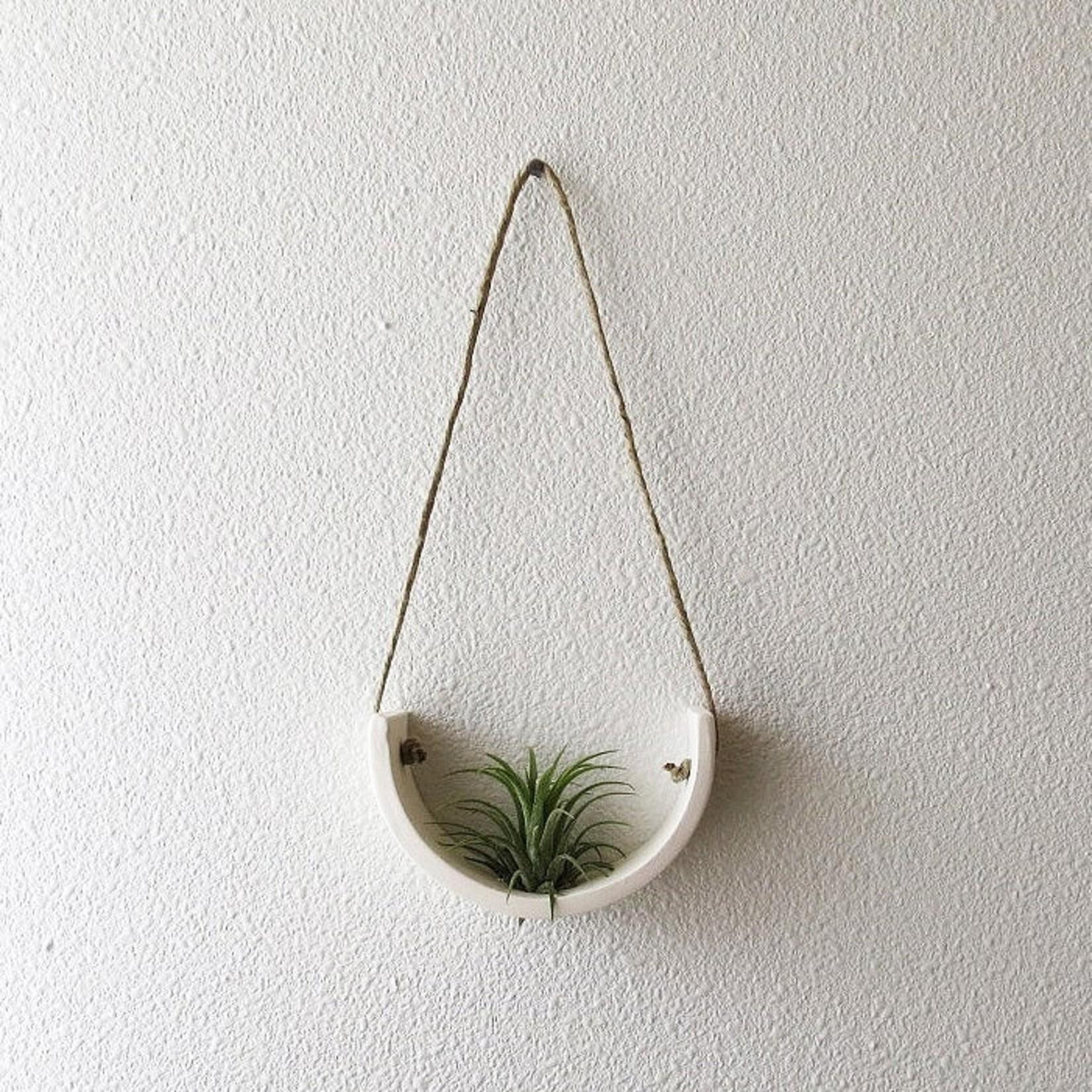 Mudpuppy Mudpuppy Hanging Planter White Earthenware Small