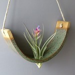 Mudpuppy Mudpuppy Hanging Planter Gunmetal Green Large