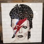 "Grace Baley Mosaic Bowie 18""x18"" Art"