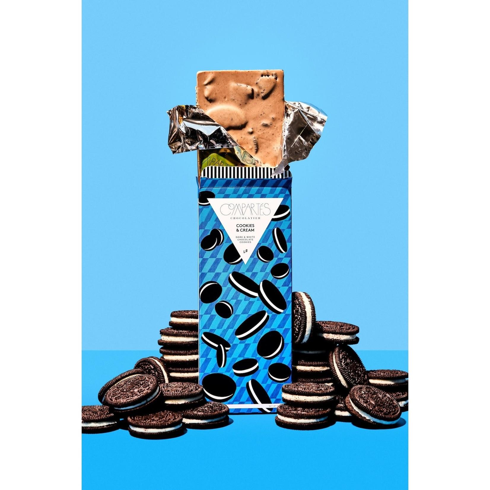 Compartes Chocolate Compartes Chocolate Cookies and Cream Oreo Cookie Chocolate Bar