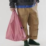 Baggu Baggu Reusable Bag Standard Cerise Stripe